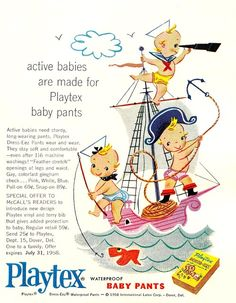 playtex baby pants, 1958