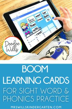 Practice sight words and phonics in kindergarten and first grade with these interactive, digital BOOM cards. Teachers and students will love these fun and self-correcting games to support daily instruction. Kindergarten Reading, Kindergarten Activities, Fun Activities, Letter Identification Activities, Alphabet Activities, Teaching Sight Words, Sight Word Games, Learning Cards, 2nd Grade Ela