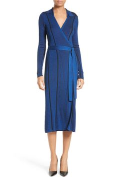 Main Image - Diane von Furstenberg Ribbed Wrap Dress