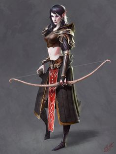 Dark Elf Archer, Magnus Norén on ArtStation at https://www.artstation.com/artwork/dark-elf-archer