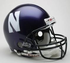 Northwestern Wildcats Authentic Full Size Pro Line Riddell Helmet - sports mix bedding saving money College Football Helmets, Football Gear, Ohio State Football, Football 2013, Sports Mix, Northwestern University, Hard Hats, Helmet Design, Frogs