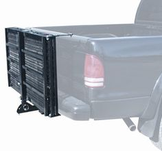 500 Lb Capacity Power Scooter and Wheelchair Folding Cargo Carrier Rack with Folded Ramp