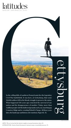 Latitudes Gettysburg cover, This gives me a great idea for an assignment!!![[[화보시작 재미있는 레이아웃]]]