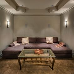 home theater projector Stunning Basement Media Room Design Media