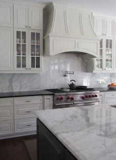 Honed Black Granite Counter at stove, marble island #lsicilia  #sicily #stromboli #eolie