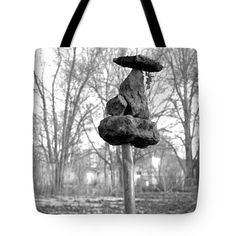 I Sit Upon A Pole Tote Bag by Lee Alexander