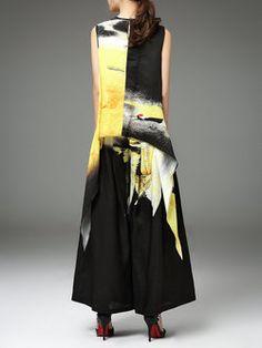 59c97e740add91 Sleeveless Statement Ramie Jumpsuit Fashion Ideas, Crew Neck, Jumpsuit,  Collar Pattern, Overalls