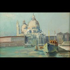 Marchetti. Santa Maria della Salute, painting #BuyArtOnline more details on en.expertissim.com
