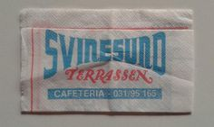 Mycket fina roliga norska servetter från 80-talet SVINESUND TERASSEN.