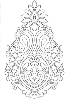 Border Embroidery Designs, Bead Embroidery Patterns, Embroidery Art, Embroidery Stitches, Paisley Embroidery, Pottery Painting Designs, Paint Designs, Islamic Art Pattern, Pattern Art