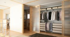 Translucent Wardrobe with wood frames