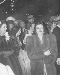 "Vivien Leigh at the ""Gone With The Wind"" premier in Atlanta, December 1939."