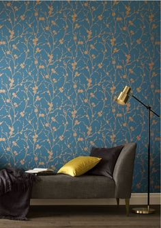 Graham & Brown launch new floral collection inspired by the Chelsea Flower Show: This design is called Meiying. With abundant, budding cheery blossoms, this design has been printed with burnished metallic detailing offset by rich, vibrant coloured backdrops. See more from the collection at housebeautiful.co.uk