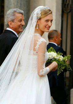 Elisabetta Maria Rosboch Von Wolkenstein married Prince Amedeo of Belgium, 7/2014.  Valentino.