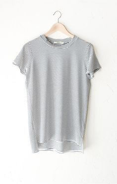 Striped Oversized Shirt - White from NYCT