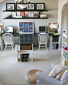 office playroom ideas. would love a desk like this for our school roomoffice minus the middle office playroom ideas