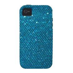 Blue Glitter Case For The iPhone 4/zazzle
