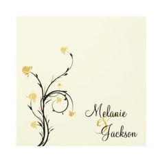 Yellow and Black Floral Swirls Post Wedding