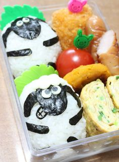 Shaun the sheep onigiri bento