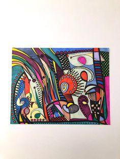 Abstract Art-Abstract Colorful-Art-Abstract Art-Abstract Wall Art- Art Gift-Home Decor-Abstract Decoration -Art Abstract Wall Art, Art Art, My Etsy Shop, Colorful, Unique Jewelry, Decoration, Handmade Gifts, Vintage, Home Decor