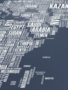 Type Maps World Type Map in Sheer Slate from Bold...   The Khooll