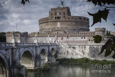 Ancient Photograph - Castel Sant Angelo by Joan Carroll