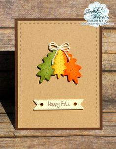 Scrappin with my bug: Jaded Blossom Challenge ! Thanks ~ fall, fall leaves, card