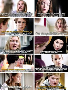 why I love skam♡ one of the best shows I have ever watched. The characters are all so relatable and I love that the show touches topics a lot of American shows miss such as homosexuality, religion, sexual assault, mental illness, and feminism. Movies Showing, Movies And Tv Shows, Skam Noora And William, Series Movies, Tv Series, Skam Cast, Skam Tumblr, Noora Skam, Isak & Even