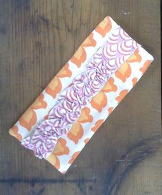 Ruffled Sunglass/Glass Pouch Orange/Pink by Proverbs31Karen, $13.00