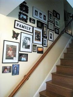 like the picture arrangements going up stairs