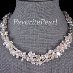 Pearl Necklace  1819 Inches 3Row 6x10mm White by FavoriteJewellery, $29.00  So pretty!!