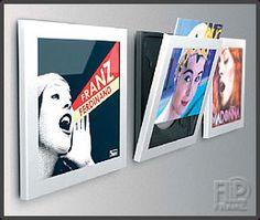 De nieuwe Witte Art Vinyl Play and Display Frames