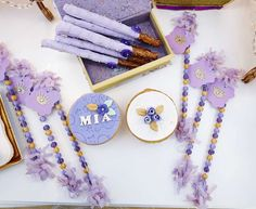 Fun favors at a Sofia the First birthday party! See more party planning ideas at CatchMyParty.com!