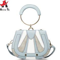 d71967595ed4 Attra-Йо мини шить женские мешок натыкаясь кольцо известных брендов женские  сумки дизайнерские сумки панелями