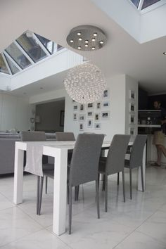 Kitchen And Dining Space · White Extending Dining TableModern ...