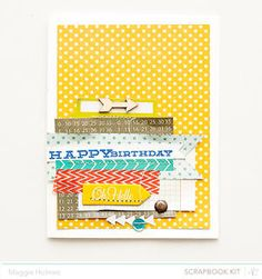 Happy Birthday Card by maggie holmes at Studio Calico January Kits