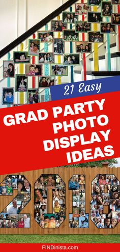 Easy Graduation Party Photo Display Ideas That Will Impress Your Guests Wondering how to display photos at a grad party? Check out these easy 21 ways to display pictures at high school or college graduation party. Outdoor Graduation Parties, Graduation Party Planning, College Graduation Parties, Graduation Party Decor, Grad Parties, Graduation Gifts, Guy Graduation Party Ideas, Graduation Quotes, Graduation Celebration