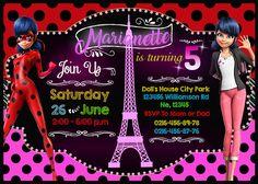 Invitación digital para Cumpleaños de Prodigiosa Ladybug