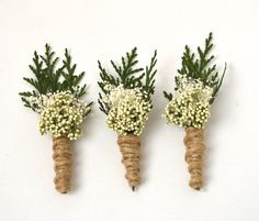 Rustic Boutonniere Woodland Boutonniere Boutineers by hazelfaire