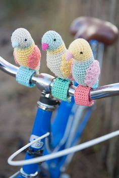 Patrón de ganchillo de Birdies de manillar por StitchCraftCreate