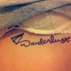 Wanderlust Tattoo, Travel Tattoo, Paper Plane Tattoo, Women's Tattoo