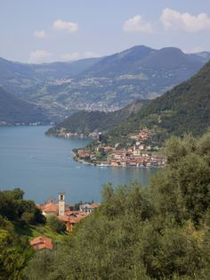 Montisola view from Sulzano Lake Iseo, Lombardy, Italy lagoiseo.com