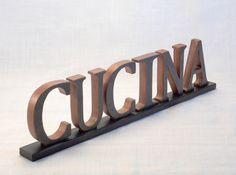 CUCINA Sign - KITCHEN Sign - Wooden Word Sign - Italian - Word Sign - Word Art Wood Sign - Kitchen Decor -  Words - Wood Letters - Wood Sign