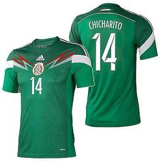f0308a7f862 Adidas chicharito mexico authentic home jersey fifa world cup brazil 2014