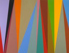 Karl Benjamin: #6, 1995, oil on canvas, 112 x 140 cm (44 x 55 in)