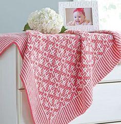 0771b9daec48 Mosaic Tiles Baby Blanket Pattern