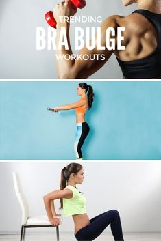 """10 Trending Workouts That Target the Muscle Groups That Cause """"Bra Bulge"""" // Arm, chest and back workouts for women."""
