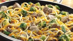 Get ready for rich, creamy pasta dish with frozen broccoli florets, prepared Alfredo sauce, and a surprising ingredient--cream cheese.