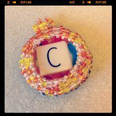 Bottle cap scrabble tile cabochon pendants!