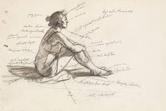 Edward Hopper, Study for Morning Sun, Fabricated chalk and graphite pencil on paper. Whitney Museum of American Art, New York; Life Drawing, Figure Drawing, Drawing Sketches, Painting & Drawing, Art Drawings, Sketching, Learn Drawing, Sketch Art, Edward Hopper